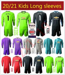 2020 2021 Long'un kollu Gençlik Çocuk Futbol Erkek GK Üniformalı kaleci S.ROMERO Kaleci Soccer formaları 20 21 1. David De Gea kiti