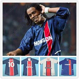 Retro Paris 98 93 95 03 Jerseys 10 Ronaldinho 11 Chulapa 9 Cardetti calcio Ibrahimovic Cavani Okocha Leroy Weah Susic Calcio calcio Mbappe