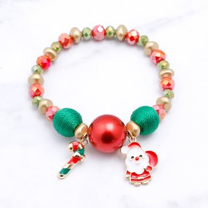 2020 New Christmas Gifts Bracelet Santa Claus Snowman Candy Bracelet Christmas Hot Sale Factory Direct Sale Free Shipping