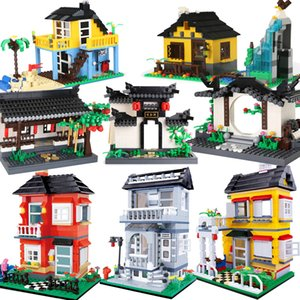 City house architecture Super Villa Cottage Creator sets model building blocks bricks Friends Kid Toy Children ideas Chinoiserie