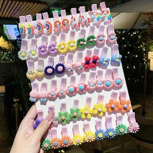 Fashion Cartoon Children's Hair Clip Set Cute Handmade Flower Fabric Hairpin Lovely Side Clip Baby Hair Accessories for Girls