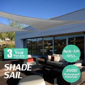 3x3x4.3 4x4x5.7 5x5x7.1 3x4x5 300D 160GSM Waterproof Polyester Oxford Fabric Shade Sail Right Triangle Tent Sunshade-Grey ogOC#