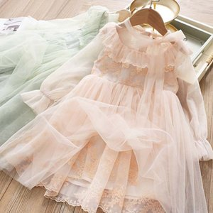 Floral Girls Dress Summer Princess Embroidery Flower Party Clothing Kids Dresses for Girls Evening Formal Gown Children Clothes
