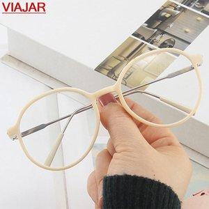 Runde Anti Blue Light Blocking Gläser Frauen Männer 2021 Mode Eye Brille Rahmen Computer Linsen Strahlenschutz