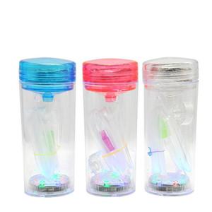 Mini Arab hookah glass water pipe vapro Led lighting Complete Set 1 Hookahs shisha Glass Vase portable hookah dab rig New