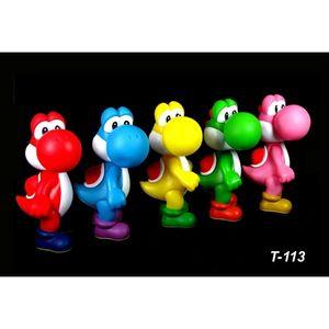 5 clolor set kids Cartoon anime Super Mario bros brothers yoshi PVC Action figures figurines Model dolls Toy Gift for children 12cm