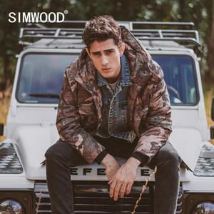 SIMWOOD 2020 Winter New Daunenjacken Männer 90% Weiße Ente Mäntel Lange Camouflage starke mit Kapuze warme gesteppte Plus Size Mantel SI980624