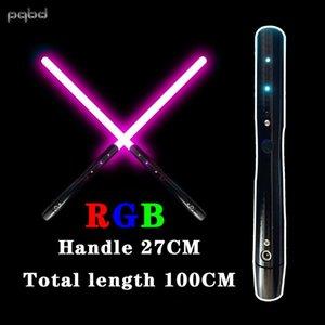 PQBD Lightsaber Gölge Hit Işık Ses Efekti Metal Lazer Kılıç Çocuk Işık Ve Ses Oyuncak Q0113