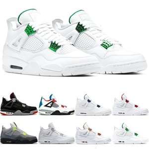 4s Shoes 4 Jumpman Basketball Men Mens Trainers Neon Green Matallic What The Bred Loyal Blue Mens Sports Shoes Sneakers Free Shipping