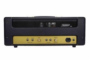 Custom Grand Plexi1959 Handwired Head 50W Guitar Amplifier in Black with 12AX7*3 EL34*2 Loop with Master Volume
