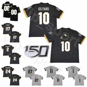 NCAA UCF Ritter Football 87 Jacob Harris Jersey 10 Eriq Gilyard 1 Eric Mitchell Aaron Robinson Bentavious Thompson Männer Frauen