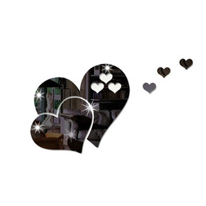 Love Heart Shaped Wall Sticker 3D Home Furnishing Art Decorate Stickers DIY Room Decor Valentine Day New 2 2cr L2