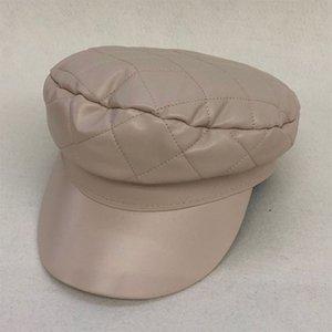 LVTZJ Mulheres boina de couro vintage Herringbone Gatsby Tweed antolhos peaky chapéu Newsboy Beret Hat mola plana Chapéus Peaked