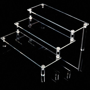 Clear Acrylic Display Stand Cosmetics Storage Rack Detachable Ladder Frame Holder Toy Car Purse Perfume Model Holder KDq7#