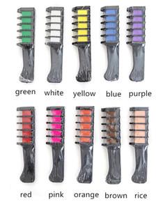 Non toxique Une fois Mini Couleur des cheveux peigne 10 couleurs Dye crème Kits partie temporaire cosplay Salon cire cheveux
