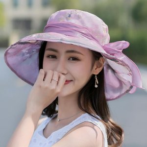 Fashion Holiday Beach Sun Hat Womens New Design Anti-UV Wild Sun Protection Caps For Female Big Eaves Adjustable