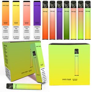 2020 Popolare Poco Plus Kit monouso 8 colori 3,2 ml Capacità 550mAh Kit di avviamento della batteria 550mAh Penna vape monouso VS Puff Plus Puf Bar