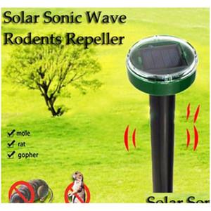 두더지 repellent 태양 광 발전 초음파 모 모 모 모스 마우스 초음파 해충 repeller 제어 가든 마당 장비 x5wdu
