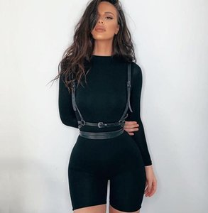Summer Streetwear White Black Sexy Bodycon Jumpsuit Women Overalls 2020 Long Sleeve Skinny Rompers Shorts Womens Jumpsuit Female