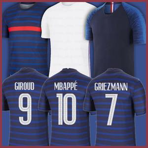 Maillots de Fútbol 2020 2021 Mbappe Griezmann Pogba FranciaHombres fútbol Jersey Fekir Pavard Fútbol Camisa de fútbol Hommes Enfants