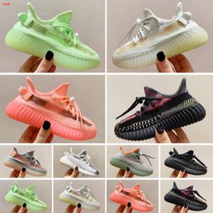Yeezy 350 V2 2020 Top Quality crianças Running Shoes Boy and Girl Yellow núcleo negro crianças Sports Shoes Sapatilhas do bebê para presente de aniversário