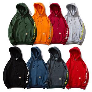 lettera di modo Kahat strada marca contanti moda 20ss stampato allentato maglione in pile uomini e donne