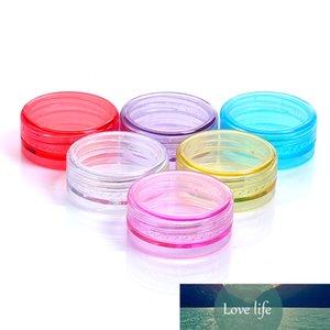 100 stücke Container Kunststoff Glas Probe Verpackungsdosen Runde Nail Art Box Lidschatten Creme Topf Mini Leere kosmetische Behälter 2g