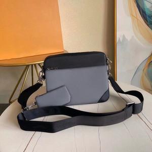 Echtes Leder Umhängetasche 3-teiliges Set Schulranzen Art und Weise Schulterbeutel Handtasche für Männer presbyopic Mini Paket Umhängetasche Mann Großhandel