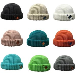 Unisex Winter Knit Beanie Hat Color Color Color Border Border Skull Cap 2xpd