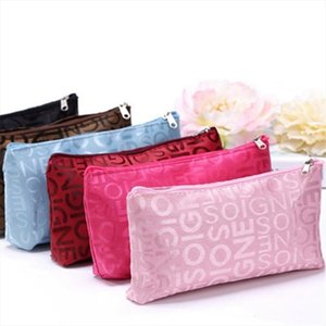 Women Portable Cute Multifunction Beauty Zipper Travel Cosmetic Bag Letter Makeup Bags Pouch Toiletry Organizer Holder