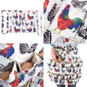 Multi cintura de bolso aventais galo impresso ovo recolhimento de aventais Fit Farmhouse Farm Home Cozinha 3 8 12 Pockets 33ZM E1