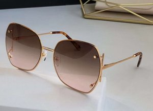 Ouro / marrom areia óculos de sol 202 óculos de sol Sonnenbrille mulheres moda óculos de sol UV400 Proteção Eyewear Wth Box