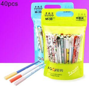 40Pcs Erasable Gel Ink Pen Refill School Stationery Supply Student Writing Tools
