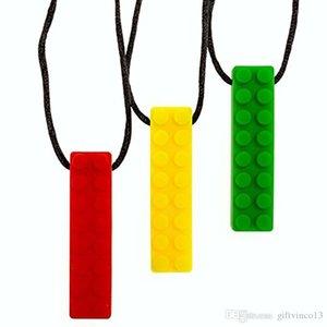 Silicone Mastigar tijolo Colar Pingente FDA Food Grade Silicone dentição Colar criativa tijolo em forma de colar Brinquedo mastigável Pendant