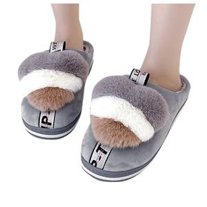 Sagace Warmhalte Startseite Slipper mit Pelz Innen Thick Sohlen Non-Slip Baumwolle Hausschuhe Einfache Hausschuhe-Frauen-Schuhe für Umstands