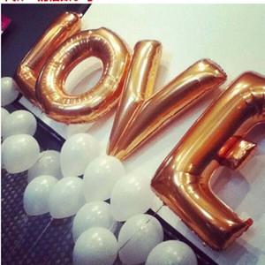 """Nuovo design 40 """"A - Z Full Alphabet Air Balloon Party Decorazione di nozze Mylar Foil Balloon grande grande lettera EWF2880"""