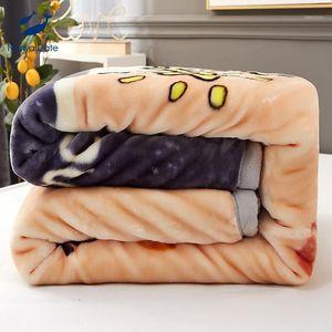 2.5-4.5 كيلوجرام راشيل بطانية رمي لحاف رشاقته الشتاء الصوف بطانية ورقة أنيمي البطانيات للأسرة custom camas1