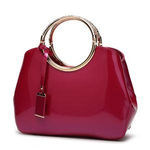 HBP 2021 Modern Toptan Moda Kılıf Patent Deri Kadın Çanta Çanta Yüksek Kalite Büyük Kızlar Kolu Çantalar Çanta