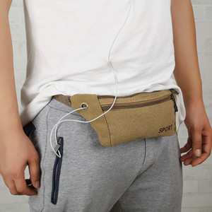 Fashion Large Waist Bag Women Man Sport Travel Mobile Phone Money Fannypack Outdoor Multifunctional Canvas Belt Bags VTKY2289