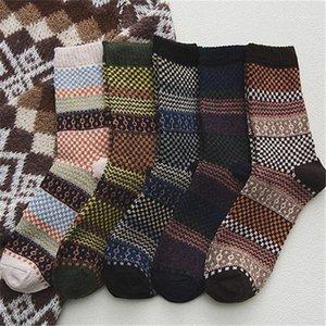 5Pairs Wool Socks Men Long Tube Retro Male Socks National Wind Warm Fashion Man1