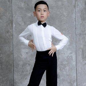 Стадия носить латинскую танцевальную рубашку для мальчиков костюм соревнований блузка сальса одежда бальные практики наряды JL2181