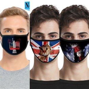 Designer Designer Respirant Imprimer Lettre Masque Mode unisexe réutilisable lavable en tissu noir vendredi Mas