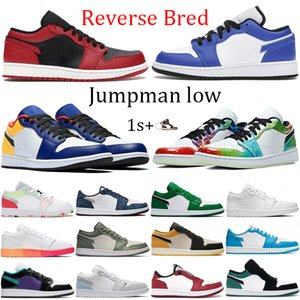 Hommes Interdit Black Toe 1 OG Chaussures De Basket Mid Bred Chicago Top 3 Ombre Triple Or Noir Toe Hommes Chaussures Design Athlétisme Baskets