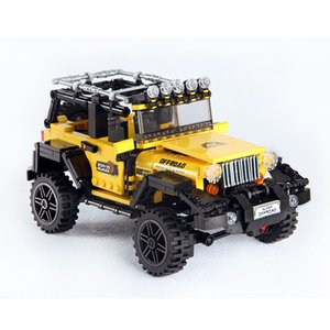 New 610 Offroad Adventures set ings Model Building Car Designers series bricks toy horses for kids developing