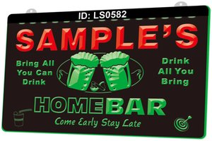 LS0582 Name Personalized Custom Family Home Brew Mug Cheers Bar Beer 3D Engraving LED Light Sign 9 Colors Wholesale Retail Free Design