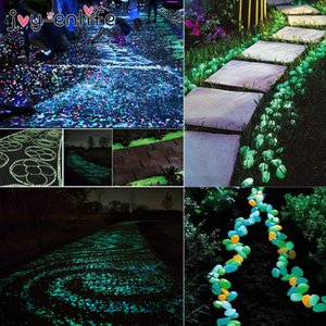 25 50pcs Luminous Stones Glow In The Dark Garden Pebbles Glow Stones Rocks for Garden Yard Walkways Fish Tank Aquarium Decor