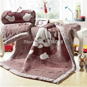 Free shipping raschel thickening double layer child blanket baby blanket 100x120cm Y201001
