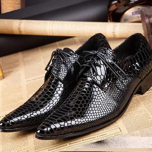 2020 a mens in pelle di coccodrillo in pelle di coccodrillo scarpe da sposa con mocassini a spillo 72pv