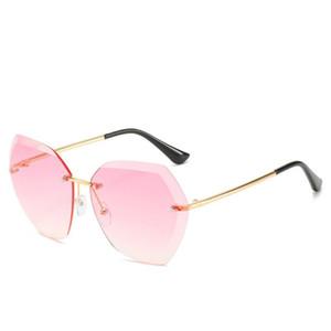 2020 New Women Fashion Frameless Irregular Gradient Sunglasses Gradient Color Gift Vintage Mirror Shades Eyewear