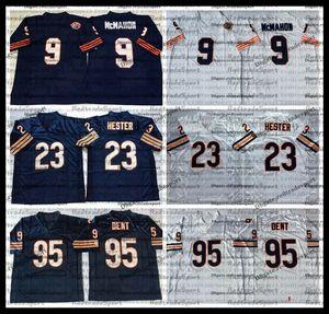 Vintage Jim McMahon 9 Jim McMahon 23 Devin Hester 95 Richard Dent Football Jerseys a buon mercato Blue Stitched Shirts Ricamo AC9